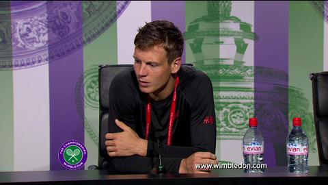 Tomas Berdych quarter-final Wimbledon 2013 press conference