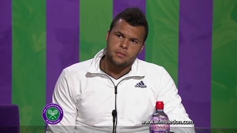 Wimbledon 2012: Jo-Wilfried Tsonga meets the media