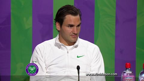 Wimbledon 2012: Roger Federer talks to the media