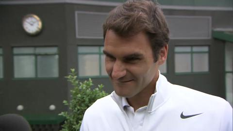 Roger Federer is quizzed on his Wimbledon knowledge
