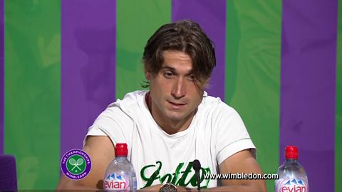 Wimbledon 2012: David Ferrer talks to the media