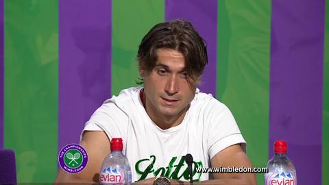 Wimbledon 2012: David Ferrer talks to the media