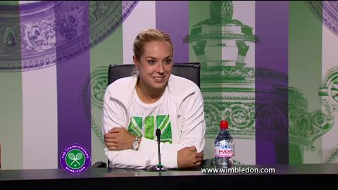 Sabine Lisicki third round Wimbledon 2013 press conference