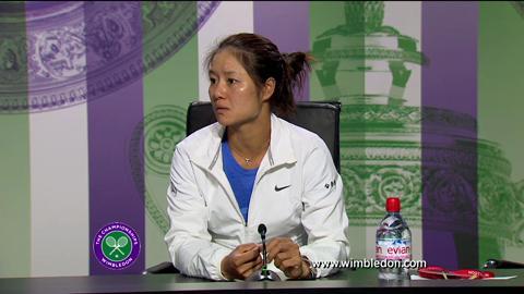 Li Na first round Wimbledon press conference