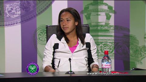 Heather Watson first round Wimbledon press conference