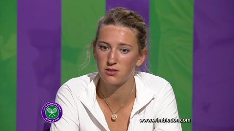 Wimbledon 2012: Victoria Azarenka talks to the media