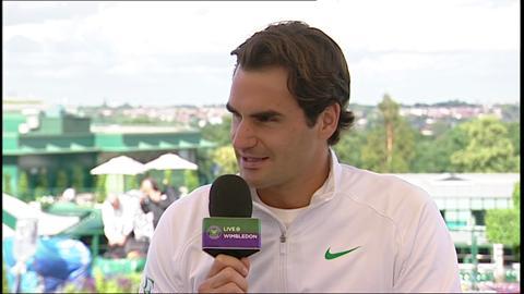 Roger Federer visits the Live @ Wimbledon studio