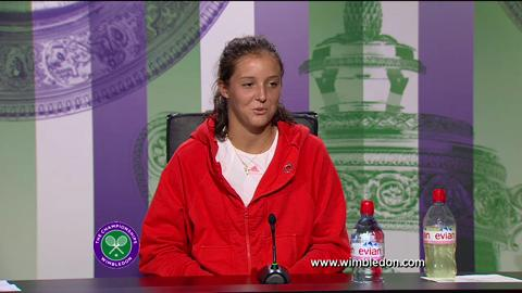 Laura Robson third round Wimbledon 2013 press conference