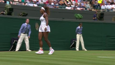 2013 Day 4 Highlights: Serena Williams v Caroline Garcia