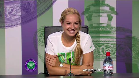 Sabine Lisicki quarter-final Wimbledon 2013 press conference