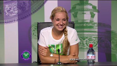 Sabine Lisicki quarter-final Wimbledon 2013 press conference
