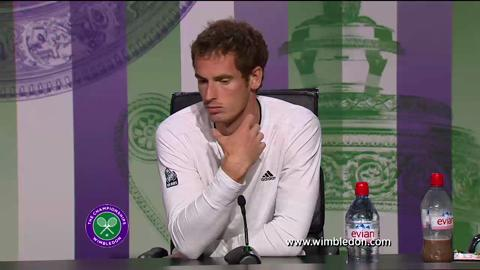 Andy Murray second round Wimbledon 2013 press conference