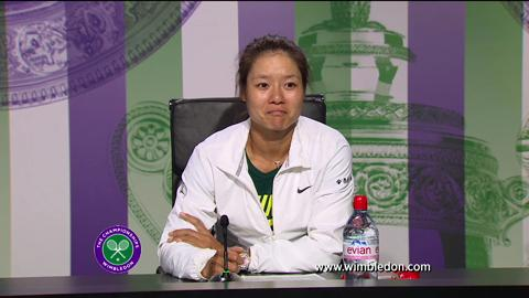 Li Na second round Wimbledon 2013 press conference