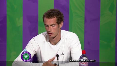 Wimbledon 2012: Andy Murray talks to the media