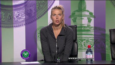 Maria Sharapova first round Wimbledon press conference