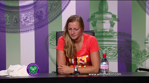 Petra Kvitova third round Wimbledon 2013 press conference