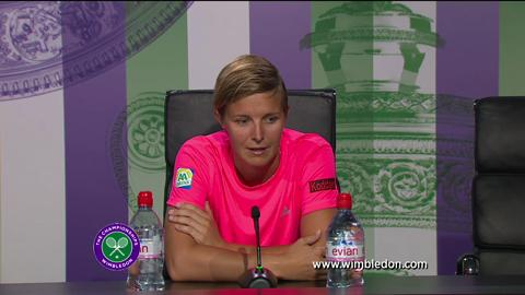 Kirsten Flipkens semi-final Wimbledon 2013 press conference