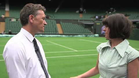 Dawn O'Porter behind the scenes - Meeting the Head Groundsman at Wimbledon 2013