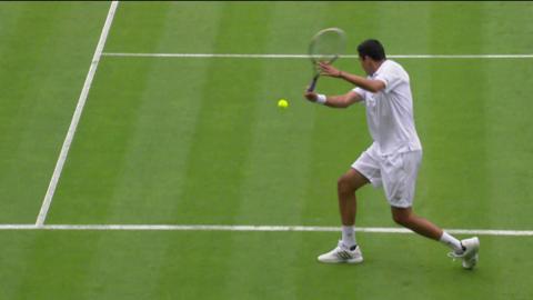 Roger Federer's brilliant volley at Wimbledon 2013