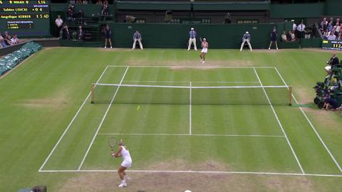 Wimbledon 2012 Day Eight Highlights: Angelique Kerber v Sabine Lisicki