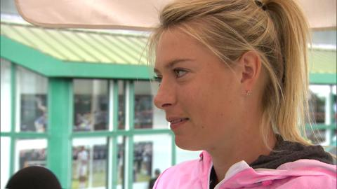 Maria Sharapova is quizzed on her Wimbledon knowledge