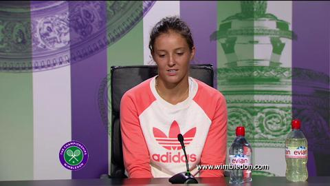 Laura Robson fourth round Wimbledon 2013 press conference