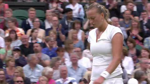 2013 Day 8 Highlights: Petra Kvitova v Kirsten Flipkens