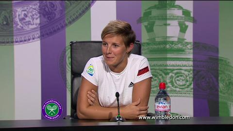 Kirsten Flipkens quarter-final Wimbledon 2013 press conference