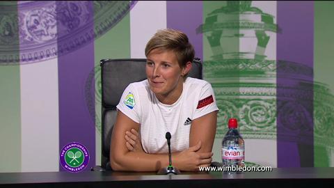 Kirsten Flipkens quarter-final Wimbledon 2013 press conference