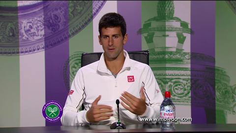 Novak Djokovic third round Wimbledon 2013 press conference