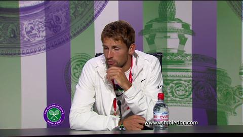 Lukasz Kubot quarter-final Wimbledon 2013 press conference
