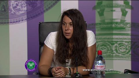 Marion Bartoli talks to the media ahead of Wimbledon 2013 Ladies' Singles final