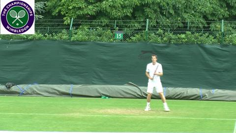 Murray, Sharapova, Djokovic and Cilic on the Wimbledon practice courts