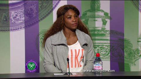 Serena Williams second round Wimbledon press conference