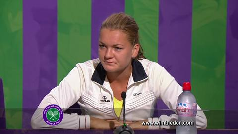 Wimbledon 2012: Agnieszka Radwanska meets the media