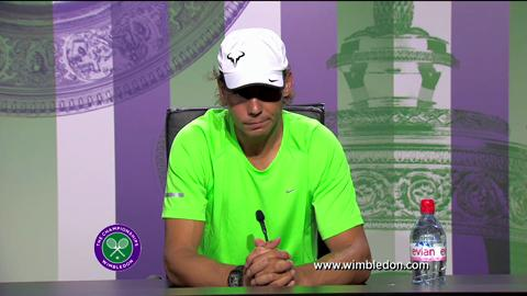 Rafael Nadal first round Wimbledon press conference