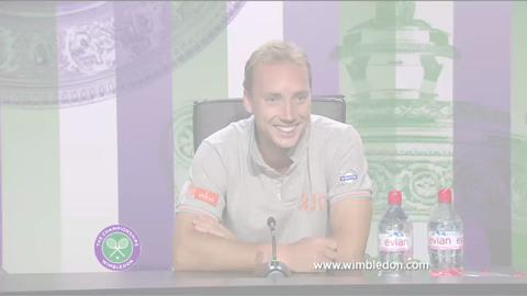 Steve Darcis first round Wimbledon press conference