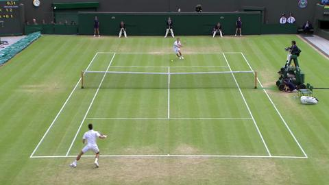 HSBC Play Of The Day - Florian Mayer wins incredible point against Novak Djokovic
