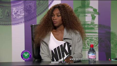 Serena Williams first round Wimbledon press conference