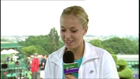 Sabine Lisicki talks to Live @ Wimbledon