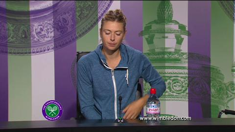 Maria Sharapova second round Wimbledon press conference