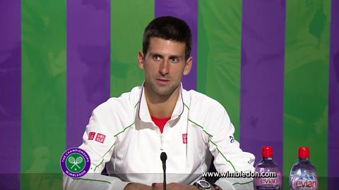 Wimbledon 2012: Novak Djokovic talks to the media