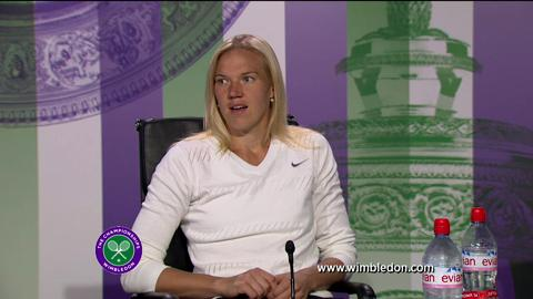 Kaia Kanepi quarter-final Wimbledon 2013 press conference