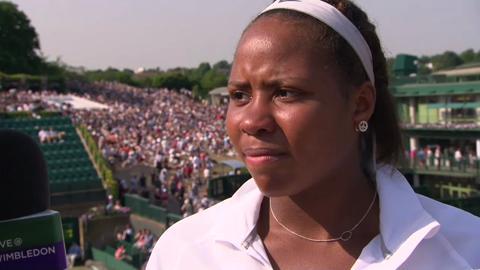 Girls' Singles runner-up Taylor Townsend talks to Live @ Wimbledon