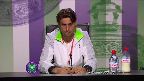 David Ferrer first round Wimbledon press conference
