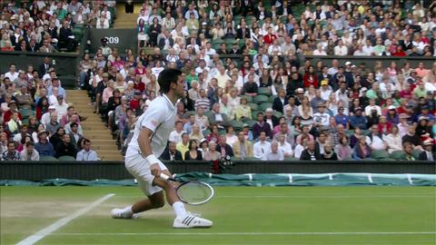 Novak Djokovic at Wimbledon 2013