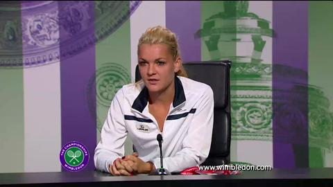 Agnieszka Radwanska second round Wimbledon 2013 press conference