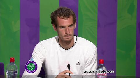Wimbledon 2012: Andy Murray talks to the media after quarter-final match