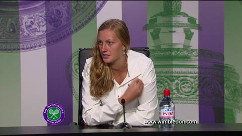 Petra Kvitova quarter-final Wimbledon 2013 press conference