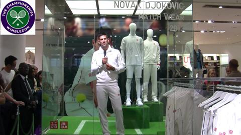 Novak Djokovic meets fans in Oxford Street